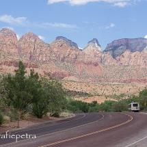 De weg door Zion NP © fotografiepetra