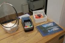 visitekaartjes en boekje