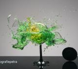 Groen & Geel Wijnglazen © Fotografiepetra